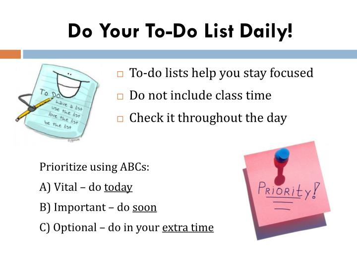 Do Your To-Do List Daily!