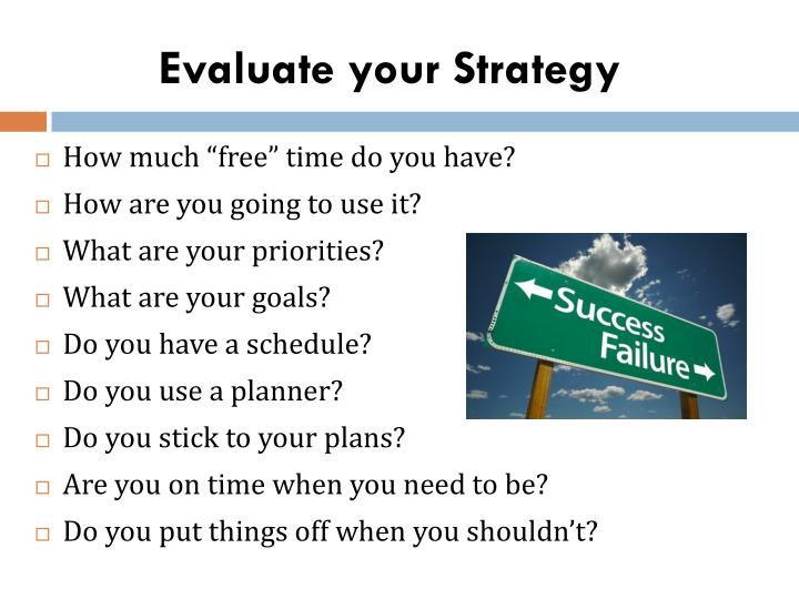 Evaluate your Strategy
