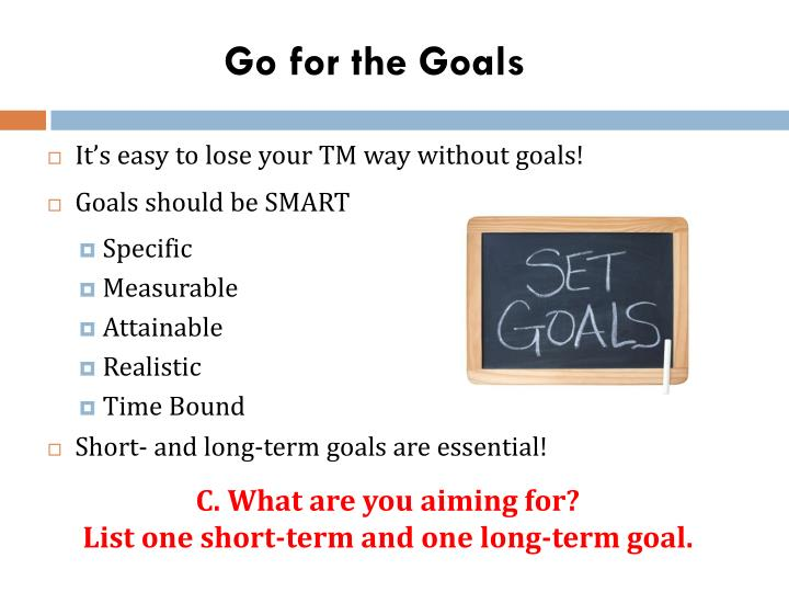 Go for the Goals