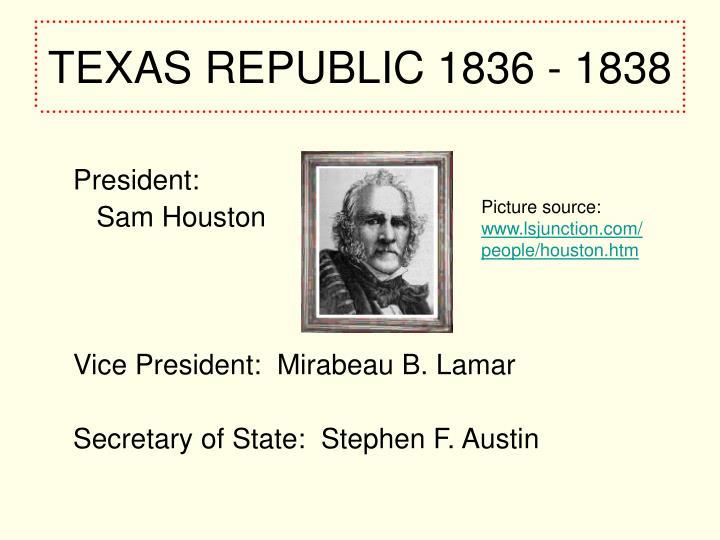 Texas republic 1836 1838