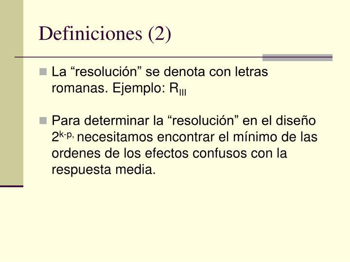 Definiciones 2