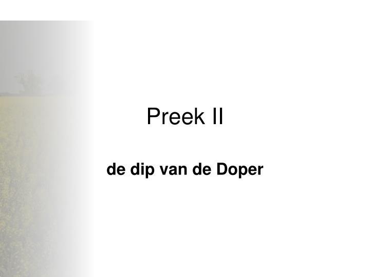 Preek II