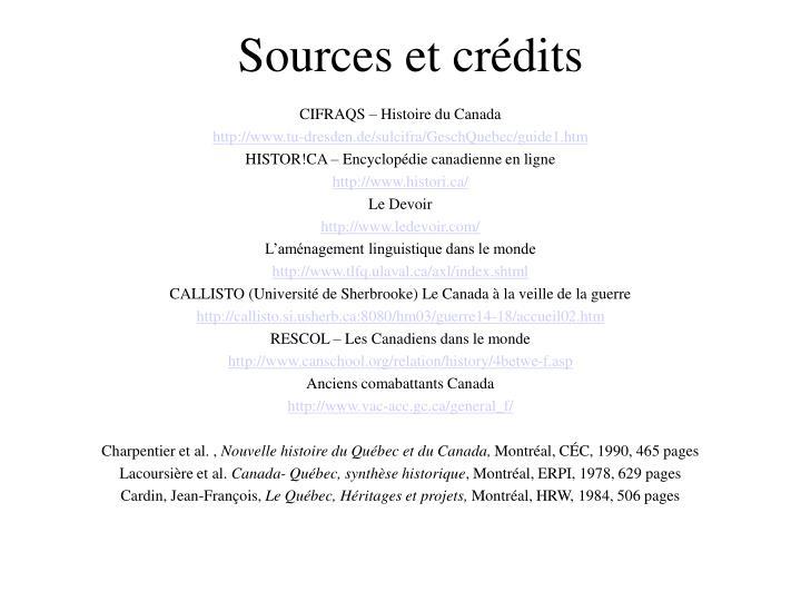 Sources et crédits