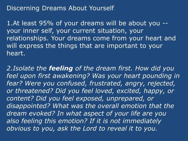 Discerning Dreams About Yourself