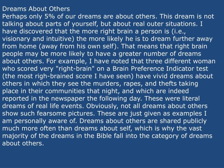Dreams About Others