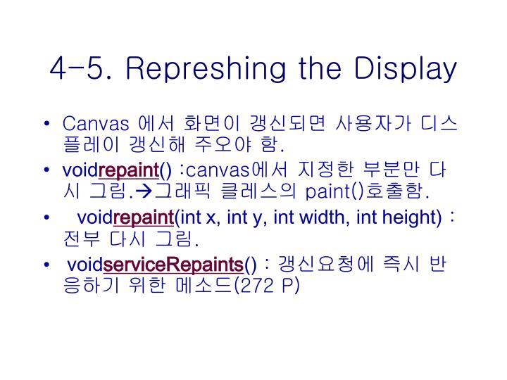 4-5. Represhing the Display