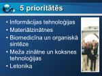 5 priorit t s