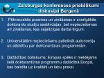 zalcburgas konferences priek likumi diskusijai bergen