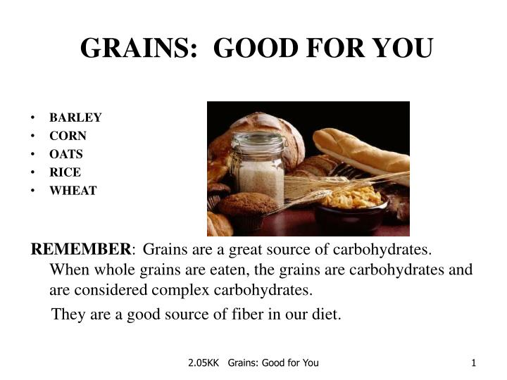 grains good for you n.