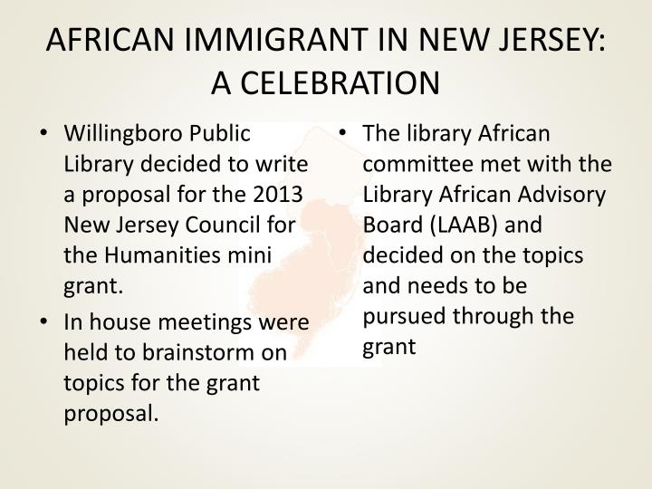 african immigrant in new jersey a celebration n.
