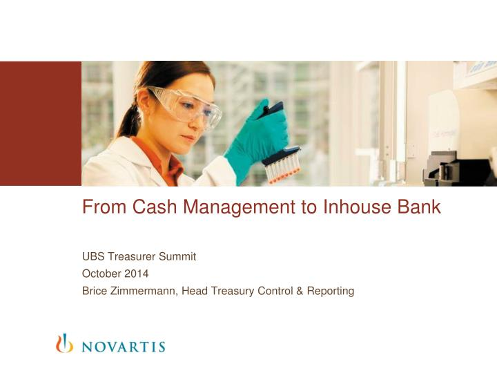 from cash management to inhouse bank n.