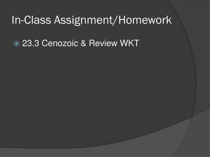 In-Class Assignment/Homework