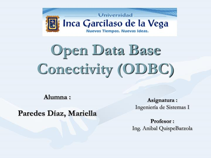 open data base conectivity odbc n.