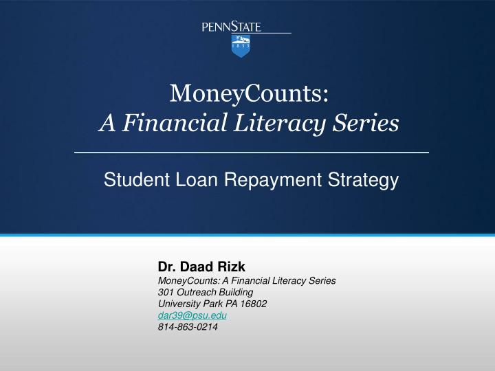 moneycounts a financial literacy series n.