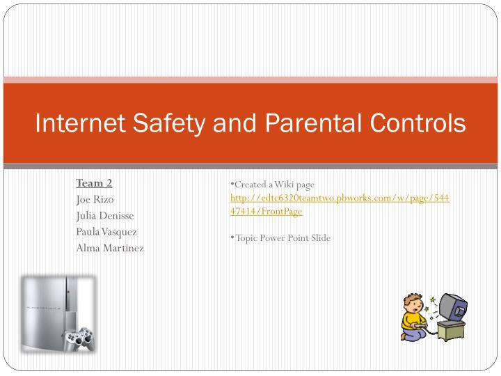 internet safety and parental controls n.