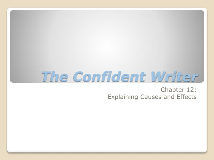the confident writer n.