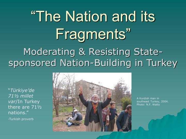 the nation and its fragments n.