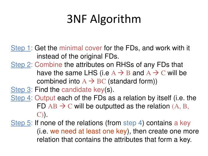 3NF Algorithm
