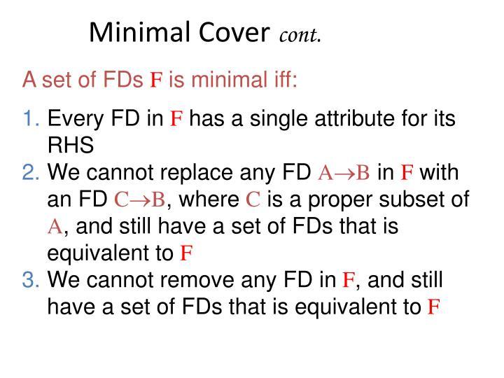 Minimal Cover