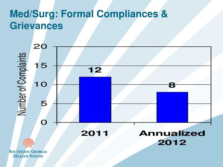 Med/Surg: Formal Compliances & Grievances