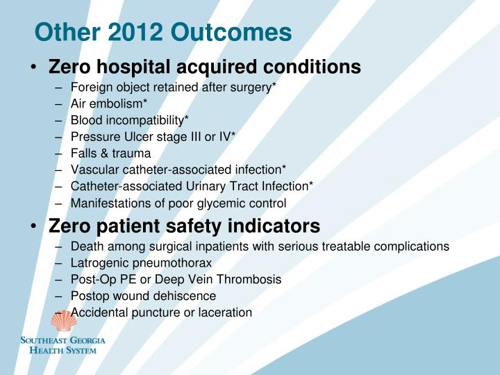Other 2012 Outcomes