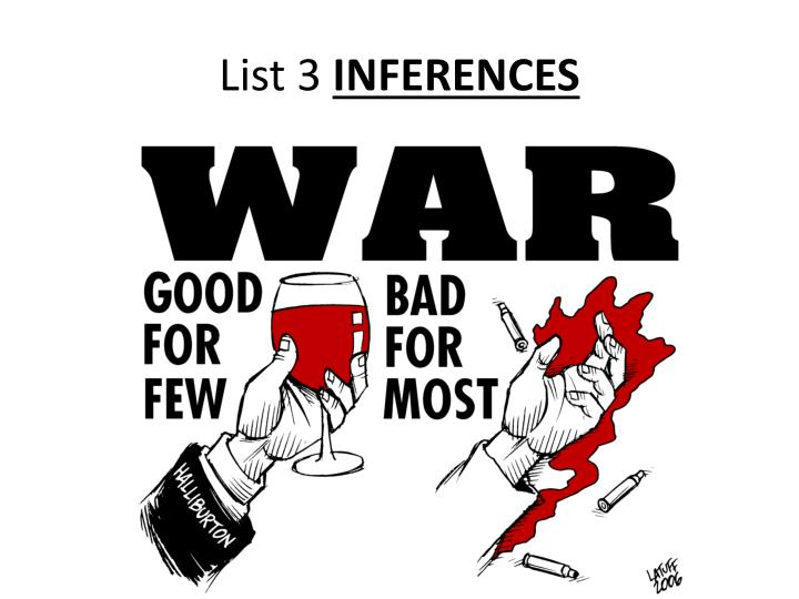 list 3 inferences n.