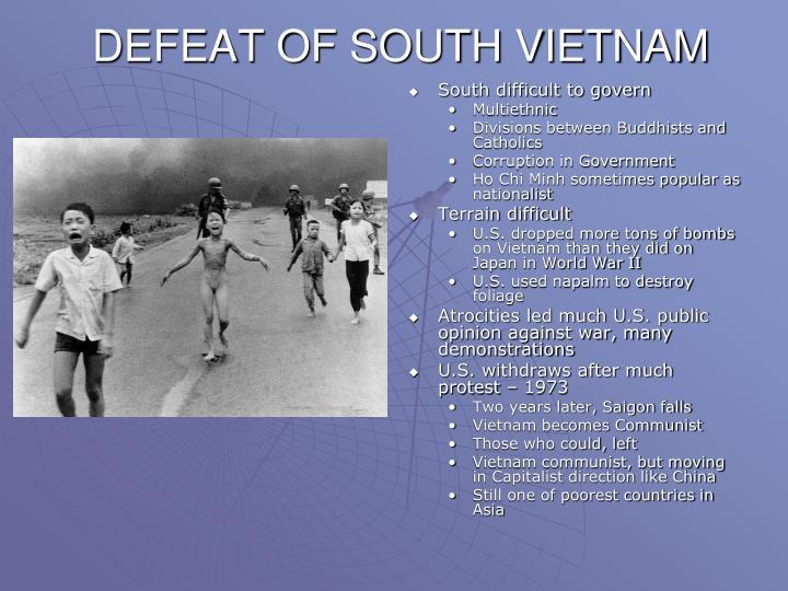 DEFEAT OF SOUTH VIETNAM