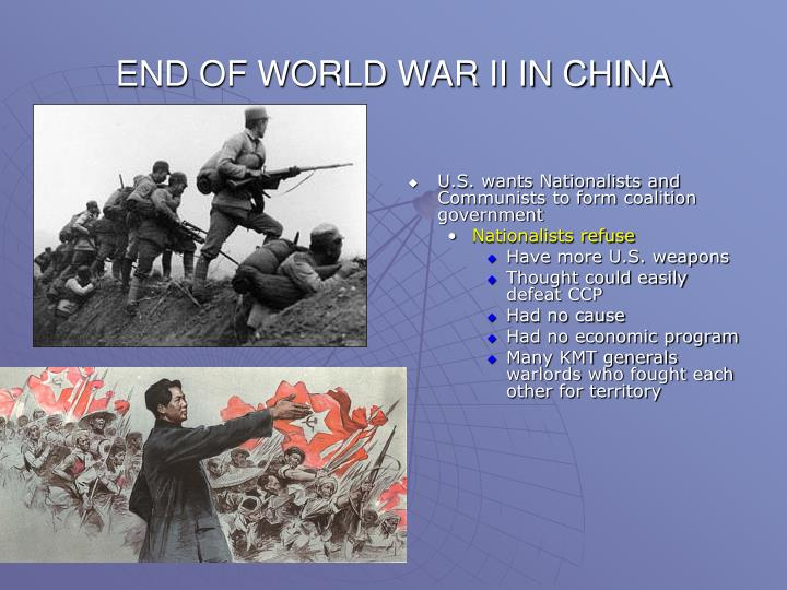 END OF WORLD WAR II IN CHINA