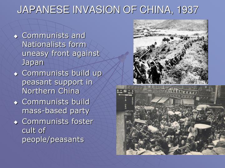 JAPANESE INVASION OF CHINA, 1937