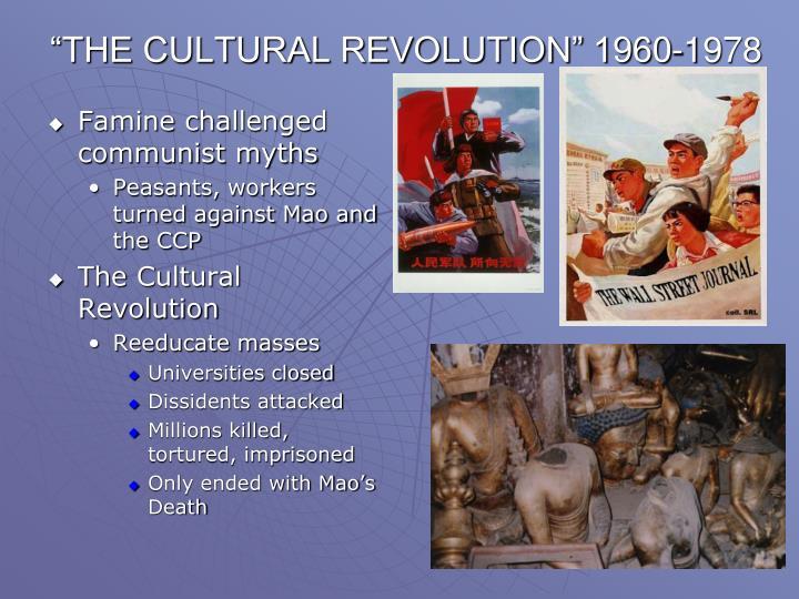 """THE CULTURAL REVOLUTION"" 1960-1978"