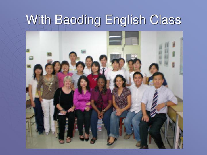 With Baoding English Class