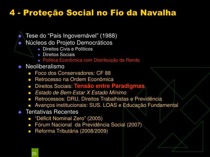 4 - Proteção Social no Fio da Navalha
