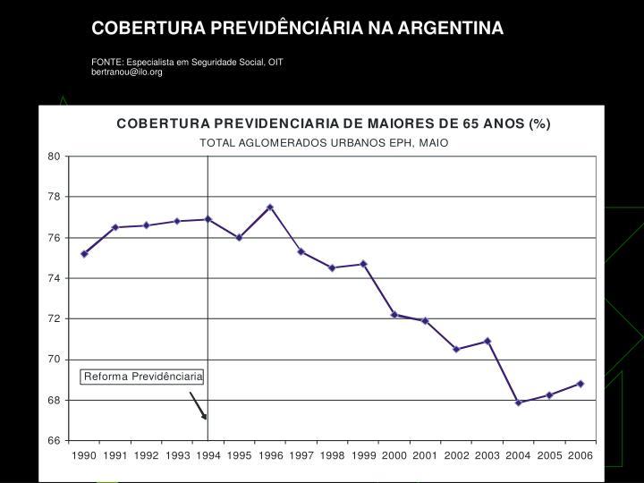 COBERTURA PREVIDÊNCIÁRIA NA ARGENTINA