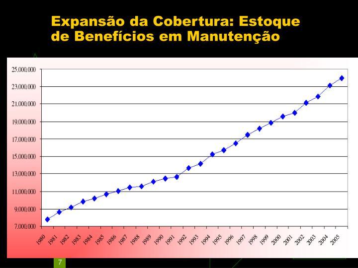 Expansão da Cobertura: Estoque de Benefícios em Manutenção
