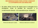 recomendaciones para evitar o reducir la contaminaci n por mercurio3