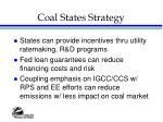 coal states strategy