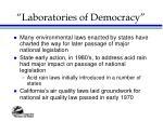 laboratories of democracy