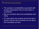 profound uncertainty