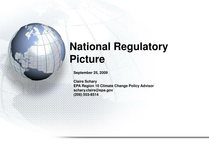 national regulatory picture n.