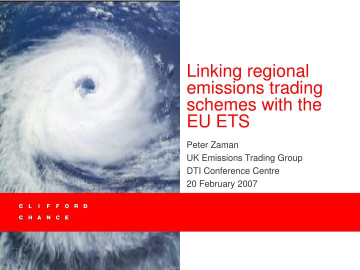 linking regional emissions trading schemes with the eu ets n.