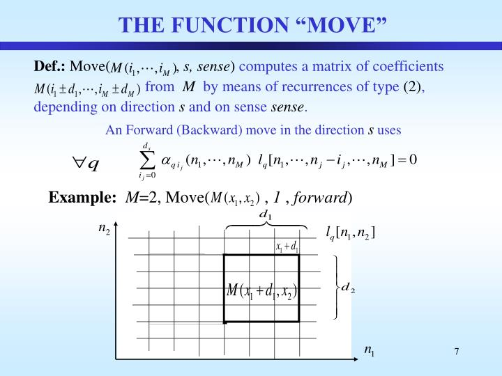 "THE FUNCTION ""MOVE"""