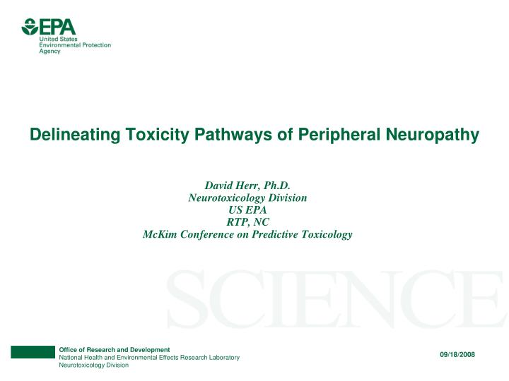 delineating toxicity pathways of peripheral neuropathy n.