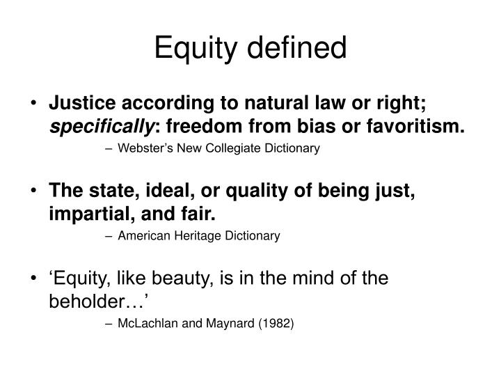 Equity defined