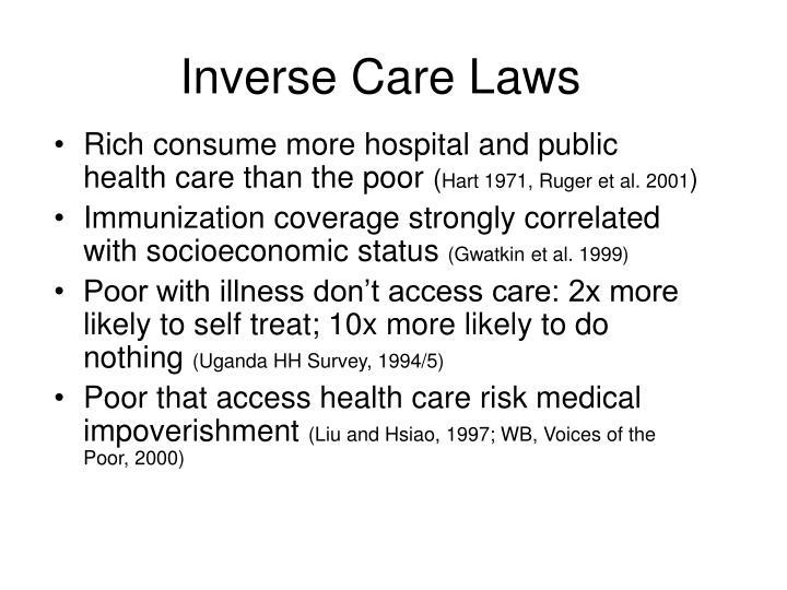Inverse Care Laws