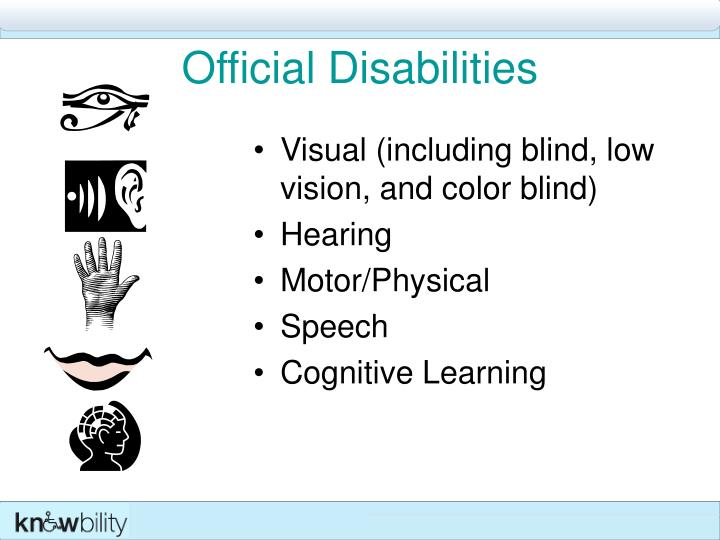 Official Disabilities
