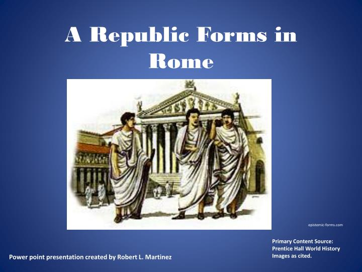 a republic forms in rome n.