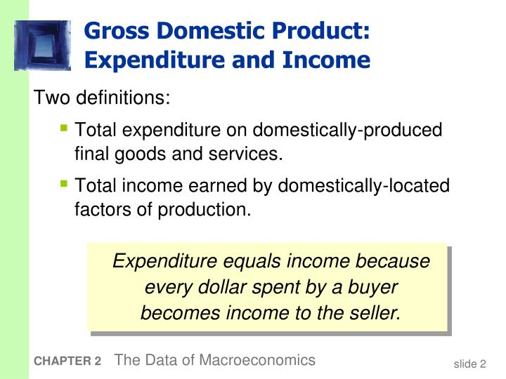 Gross domestic product expenditure and income