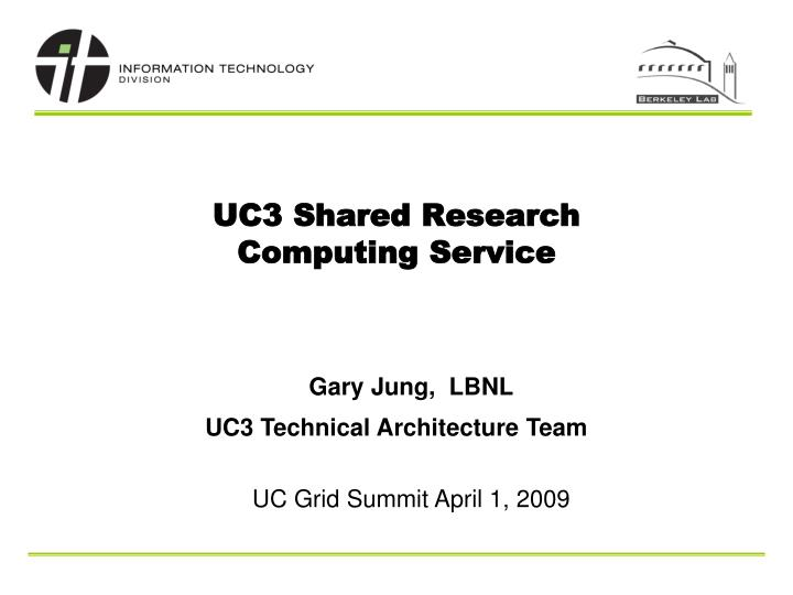 uc3 shared research computing service n.