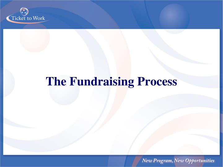 the fundraising process n.