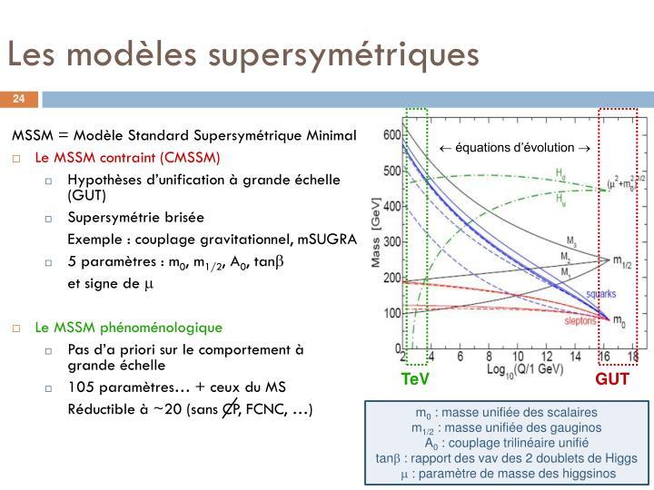 Les modèles supersymétriques